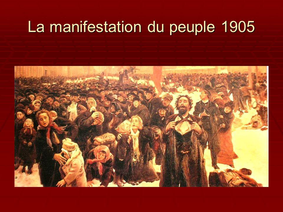 La manifestation du peuple 1905