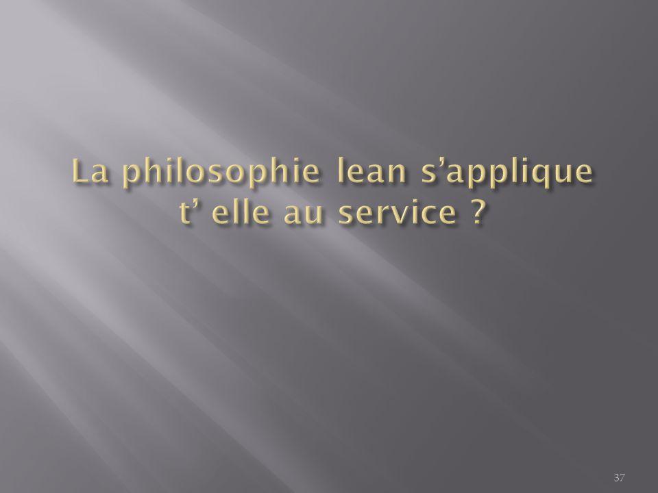 La philosophie lean s'applique t' elle au service