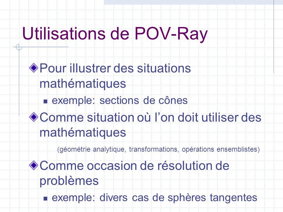 Utilisations de POV-Ray