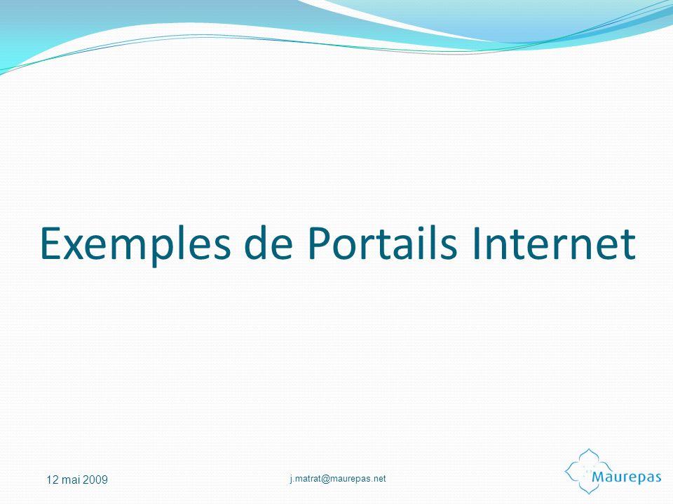 Exemples de Portails Internet