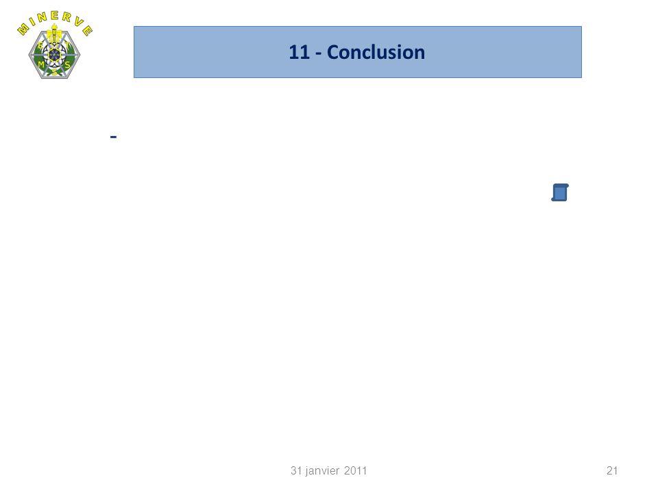 11 - Conclusion - 31 janvier 2011 CA du 14 janvier 2010