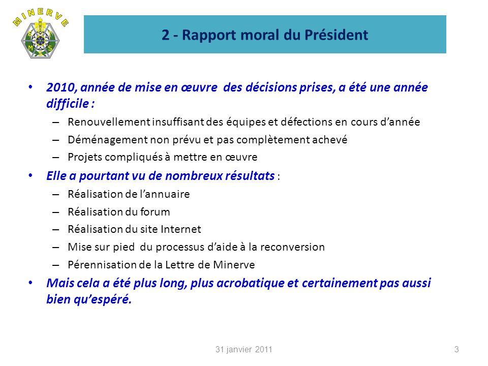 2 - Rapport moral du Président