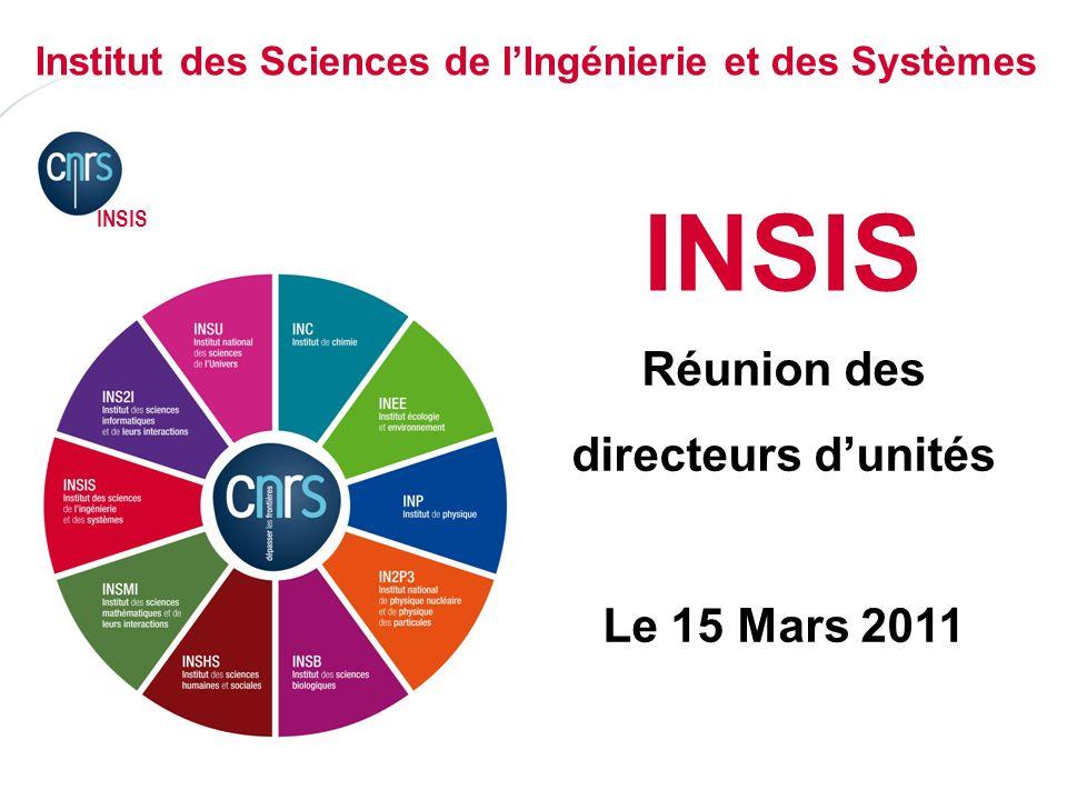 Institut des Sciences de l'Ingénierie et des Systèmes