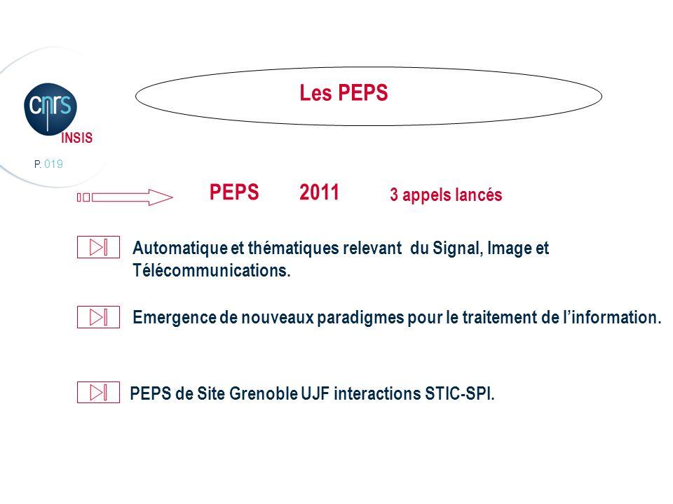 Les PEPS PEPS 2011 3 appels lancés
