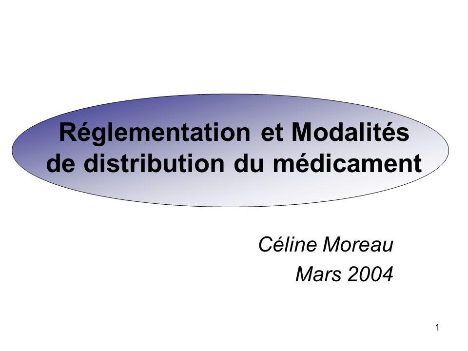 Réglementation et Modalités de distribution du médicament