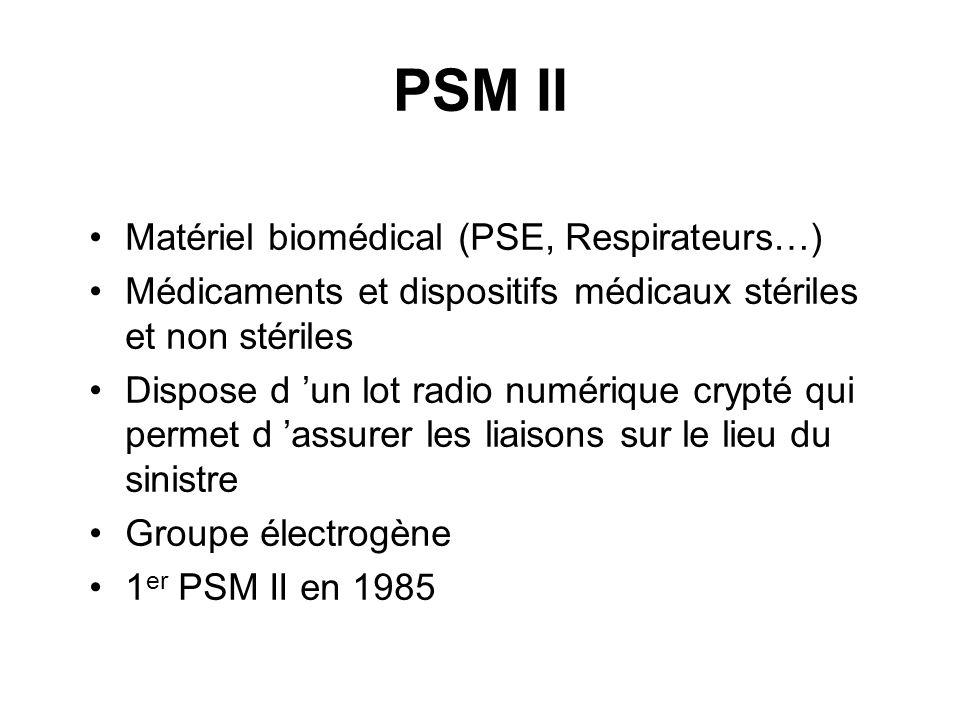 PSM II Matériel biomédical (PSE, Respirateurs…)