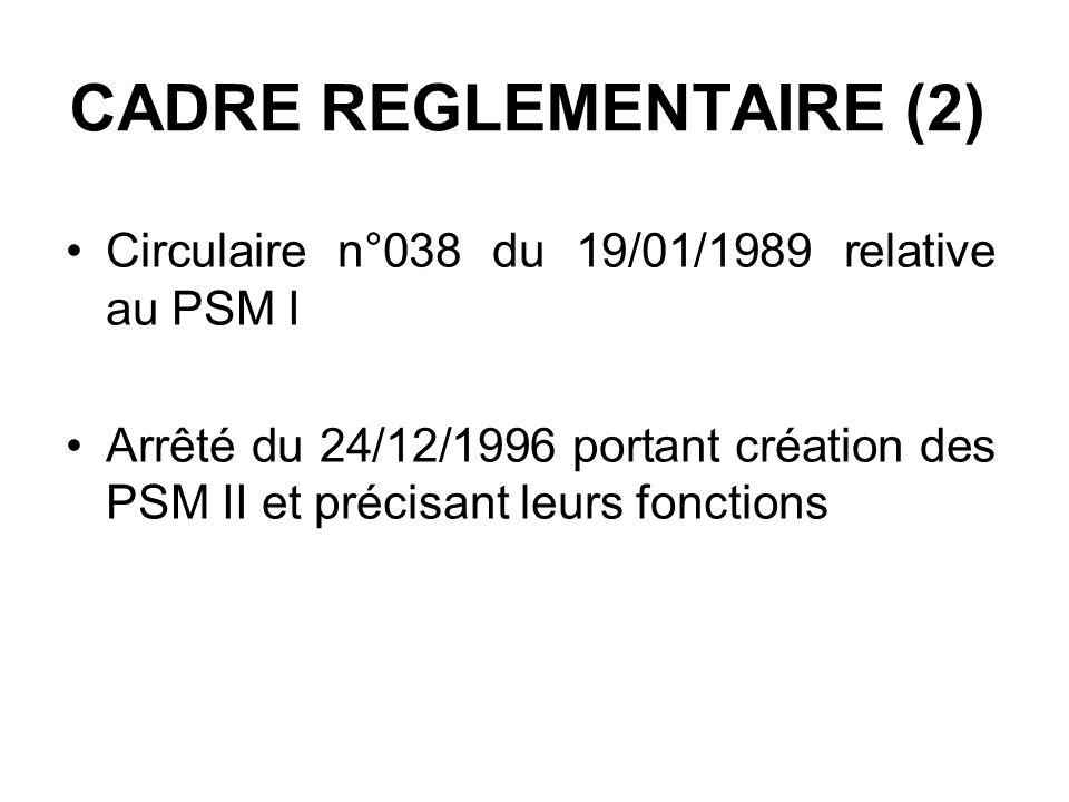 CADRE REGLEMENTAIRE (2)