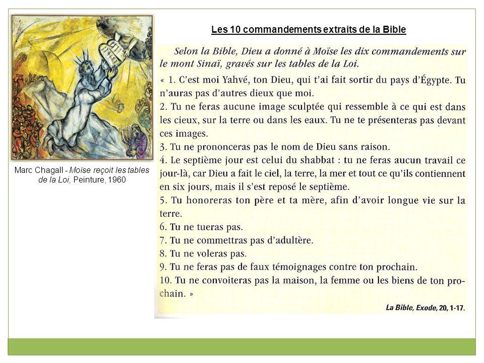 Marc Chagall - Moïse reçoit les tables de la Loi, Peinture, 1960