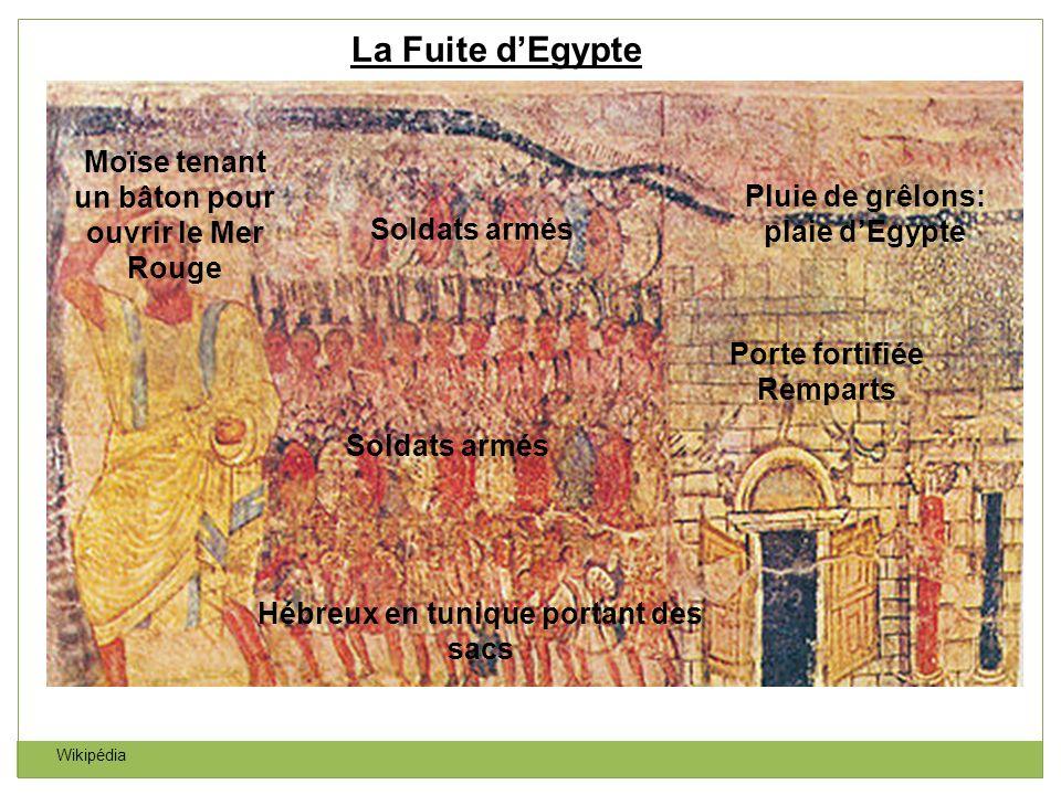 La Fuite d'Egypte Moïse tenant un bâton pour ouvrir le Mer Rouge
