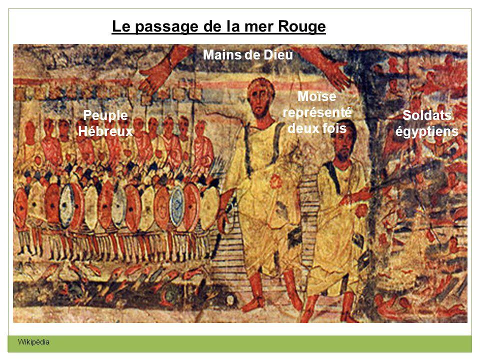 Le passage de la mer Rouge Moïse représenté deux fois