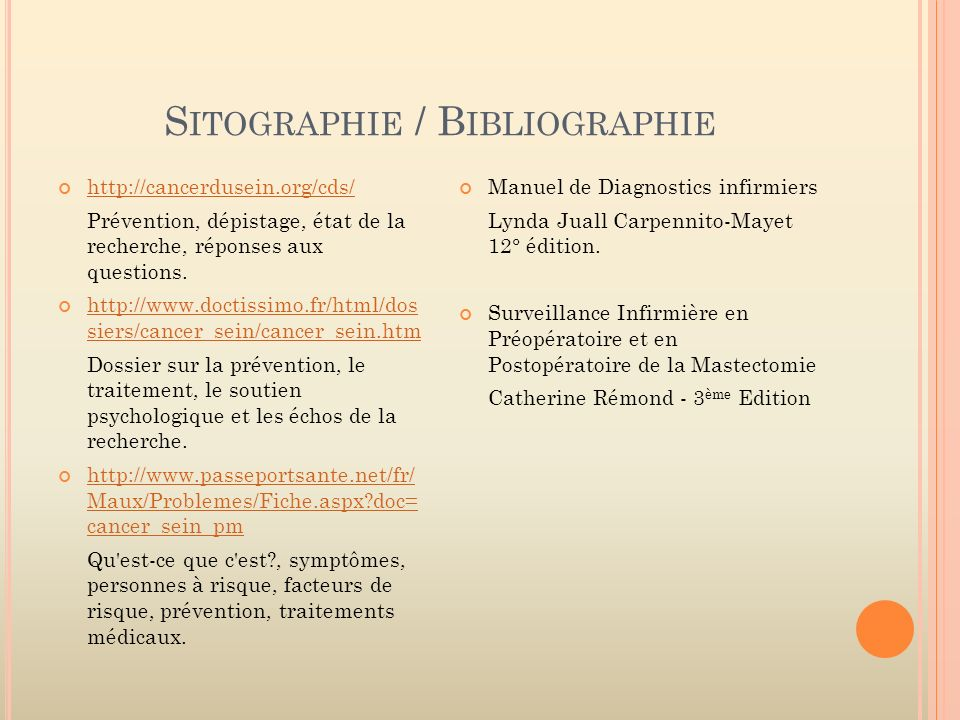 Sitographie / Bibliographie