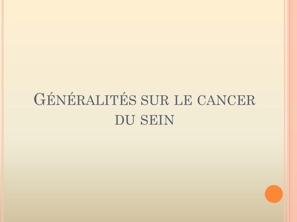 Généralités sur le cancer du sein