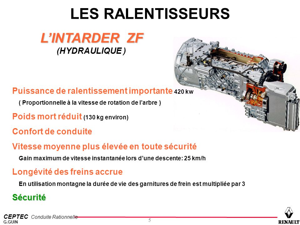 LES RALENTISSEURS L'INTARDER ZF (HYDRAULIQUE )