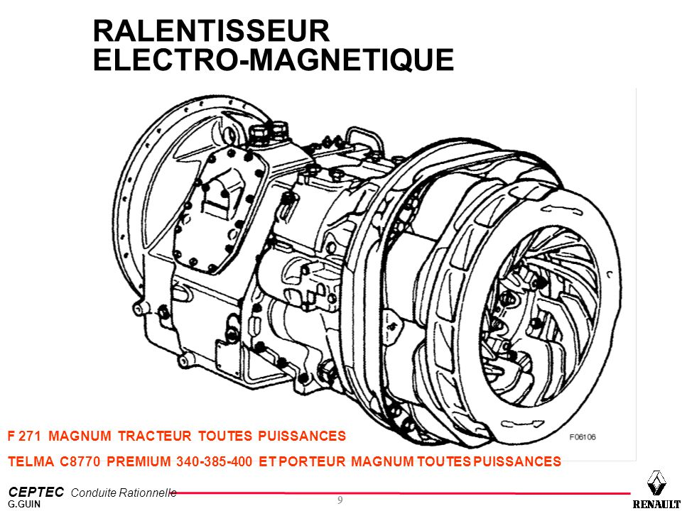 RALENTISSEUR ELECTRO-MAGNETIQUE
