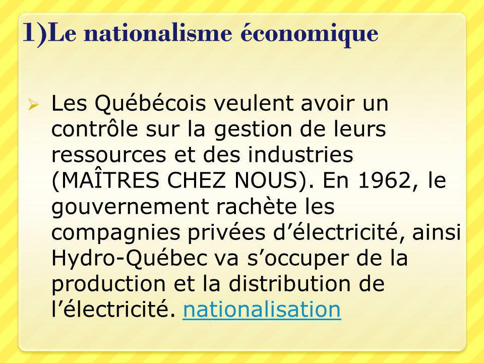 1)Le nationalisme économique