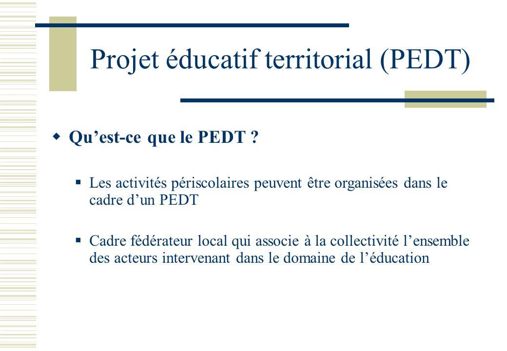 Projet éducatif territorial (PEDT)
