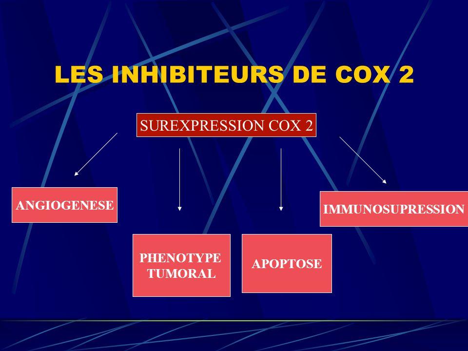 LES INHIBITEURS DE COX 2 SUREXPRESSION COX 2 ANGIOGENESE