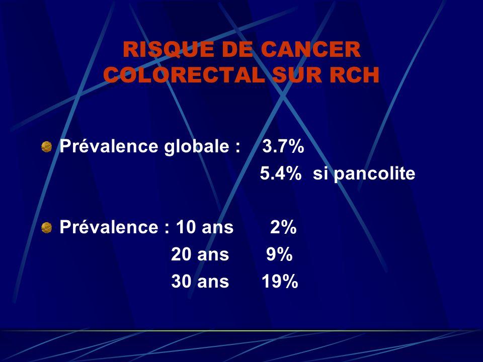 RISQUE DE CANCER COLORECTAL SUR RCH