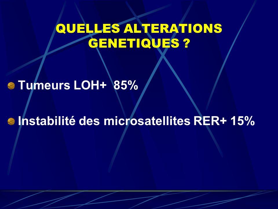 QUELLES ALTERATIONS GENETIQUES