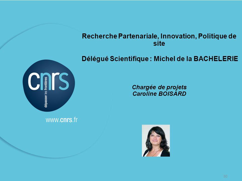 Recherche Partenariale, Innovation, Politique de site