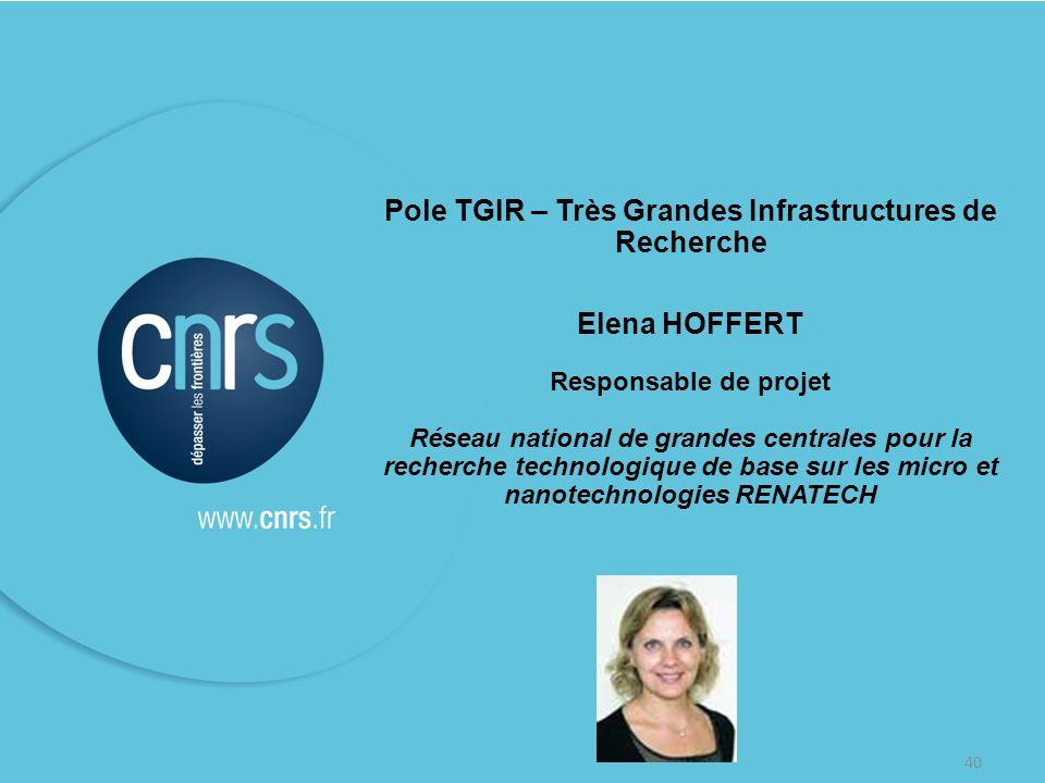 Pole TGIR – Très Grandes Infrastructures de Recherche