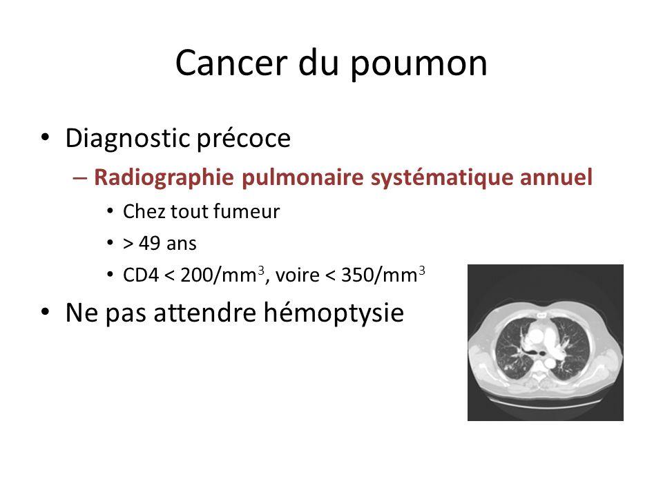 Cancer du poumon Diagnostic précoce Ne pas attendre hémoptysie