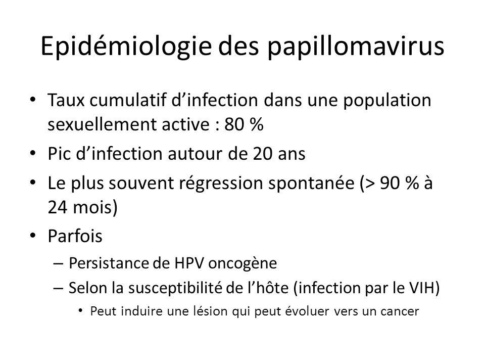 Epidémiologie des papillomavirus