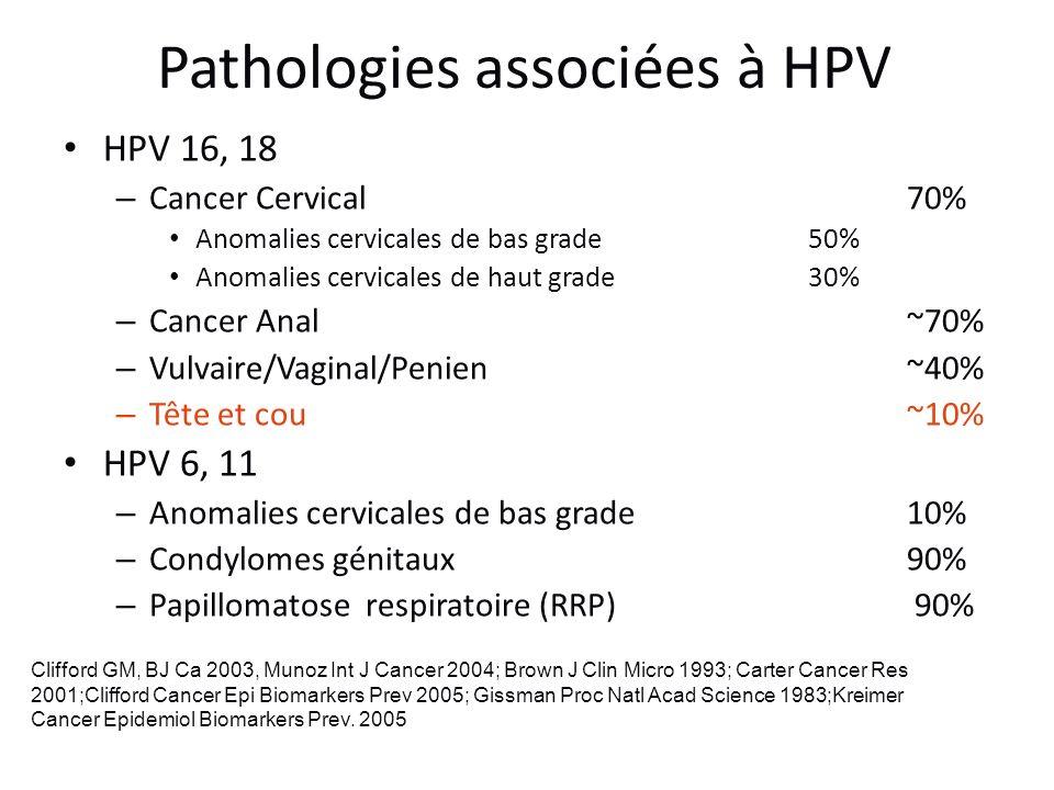 Pathologies associées à HPV