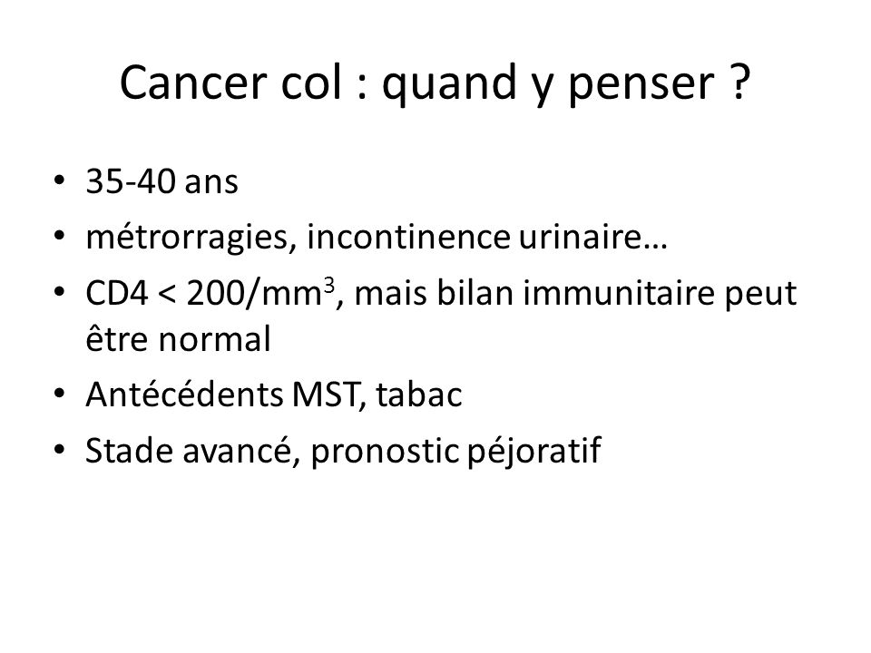 Cancer col : quand y penser