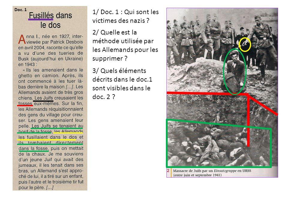 1/ Doc. 1 : Qui sont les victimes des nazis