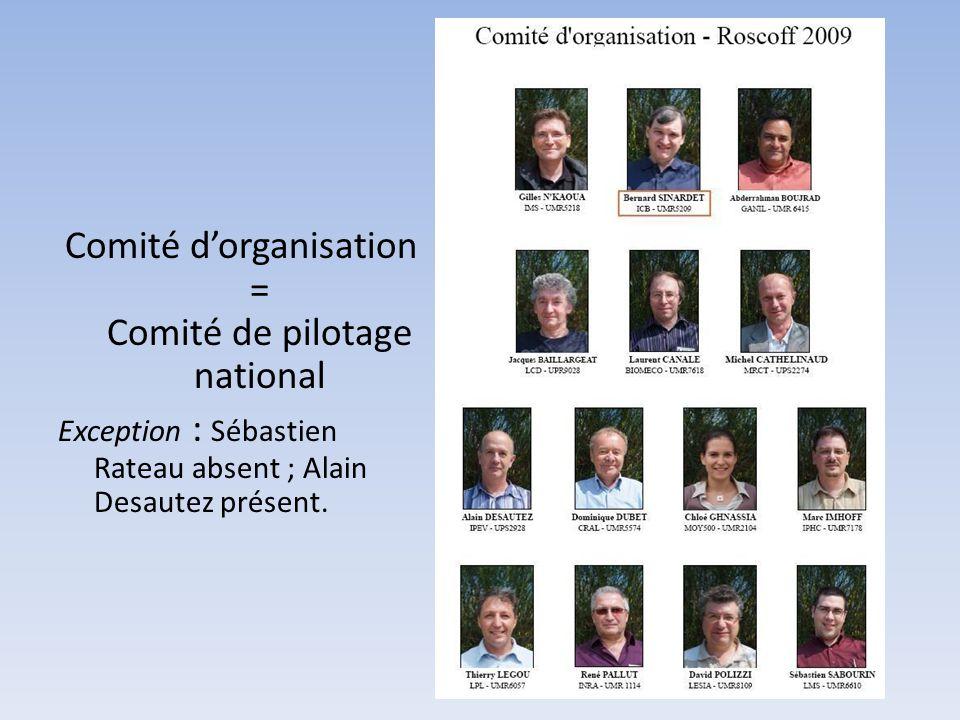 Comité d'organisation = Comité de pilotage national