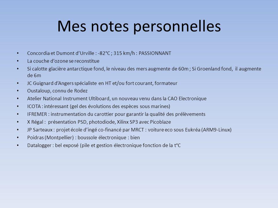 Mes notes personnelles