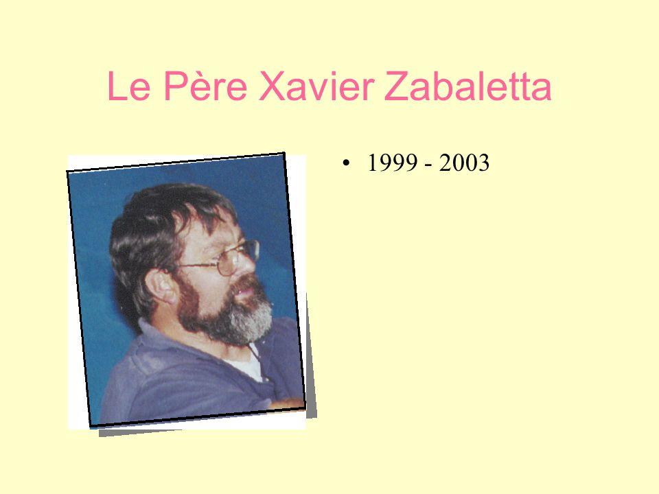 Le Père Xavier Zabaletta