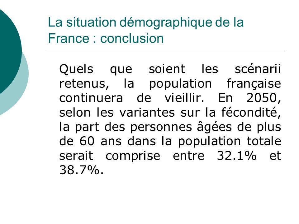 La situation démographique de la France : conclusion