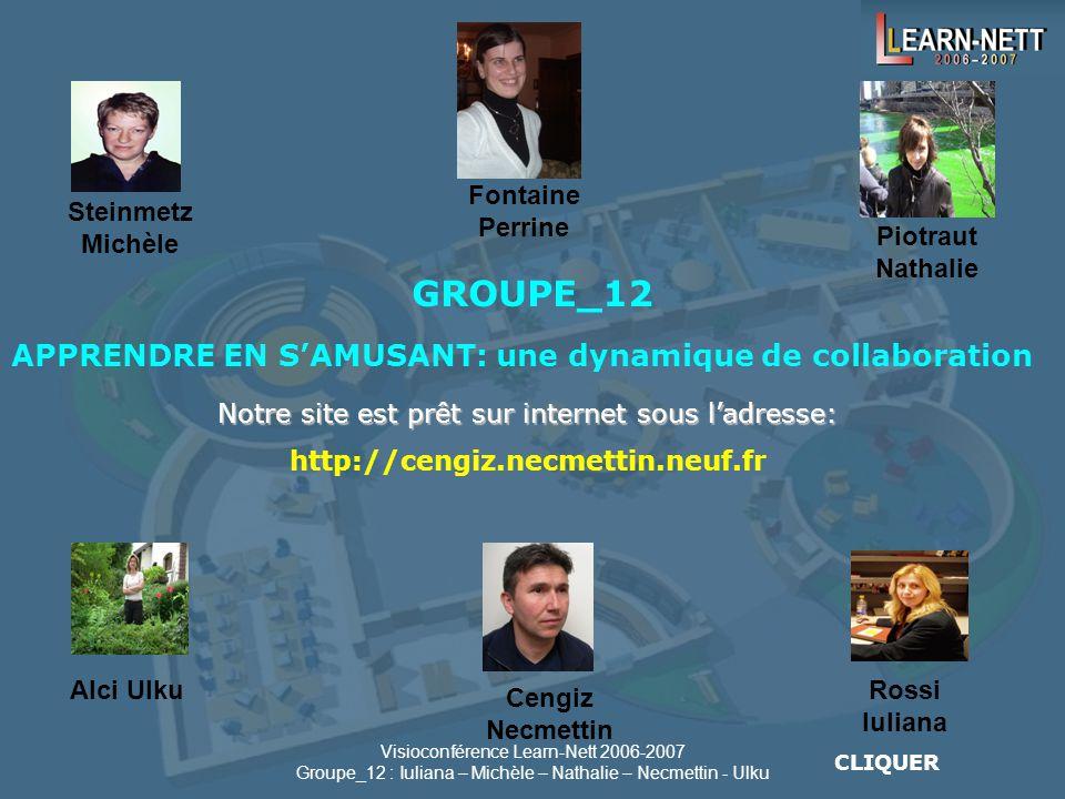 GROUPE_12 APPRENDRE EN S'AMUSANT: une dynamique de collaboration