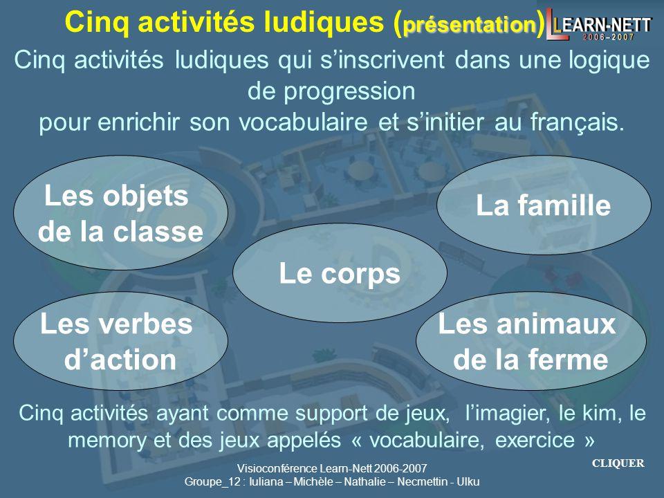 Cinq activités ludiques (présentation)
