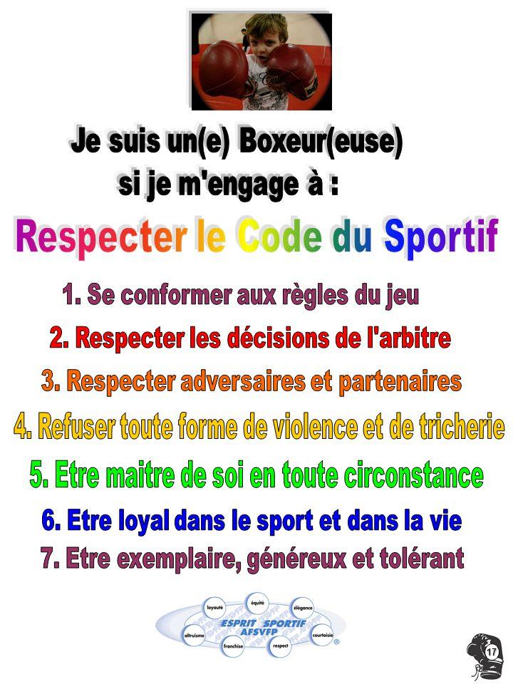 Respecter le Code du Sportif