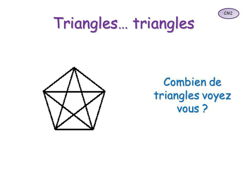 Combien de triangles voyez vous