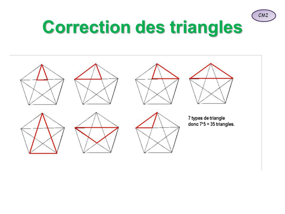 Correction des triangles