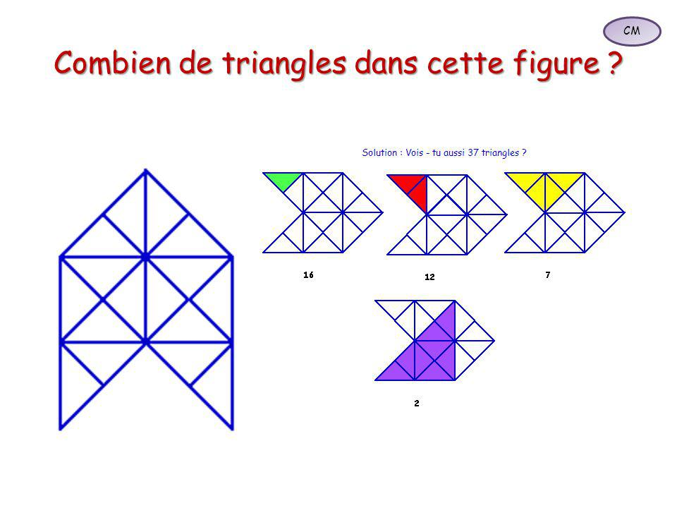 Combien de triangles dans cette figure