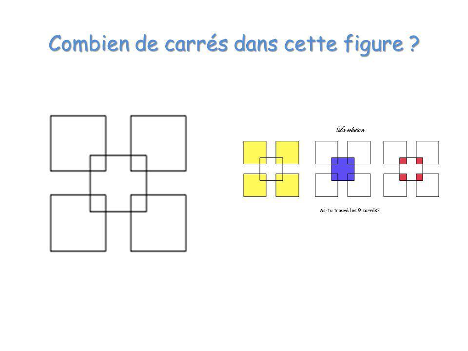 Combien de carrés dans cette figure