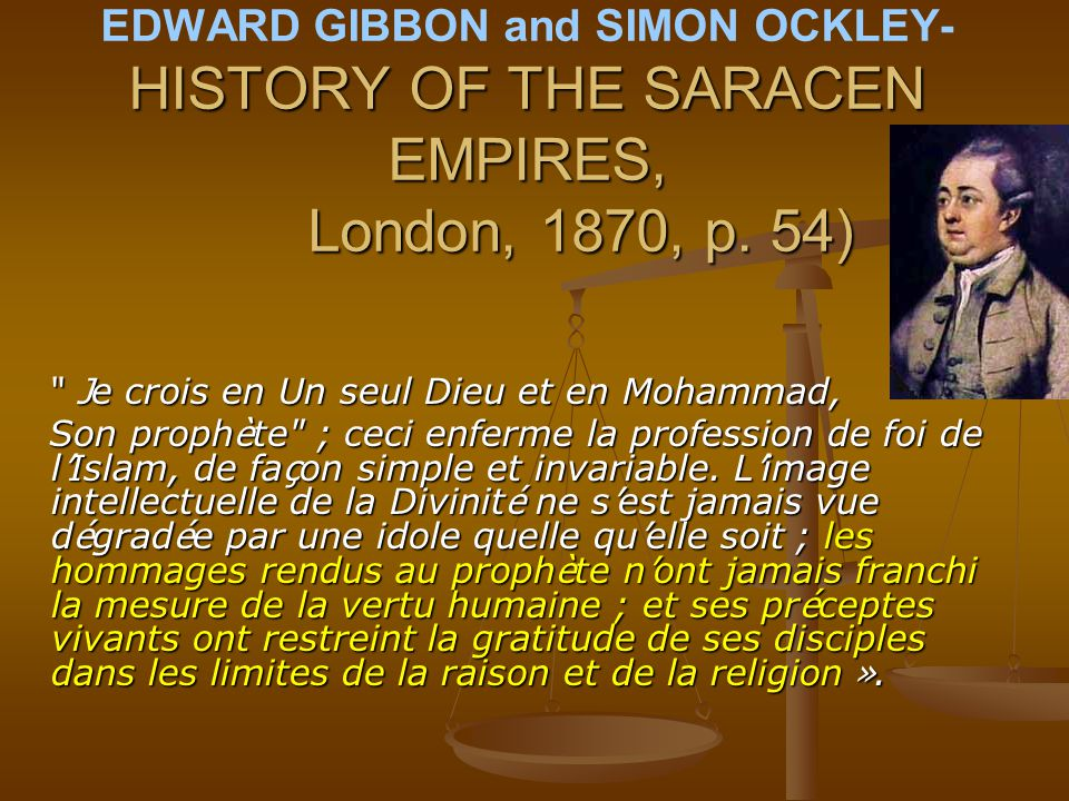 EDWARD GIBBON and SIMON OCKLEY- HISTORY OF THE SARACEN EMPIRES,