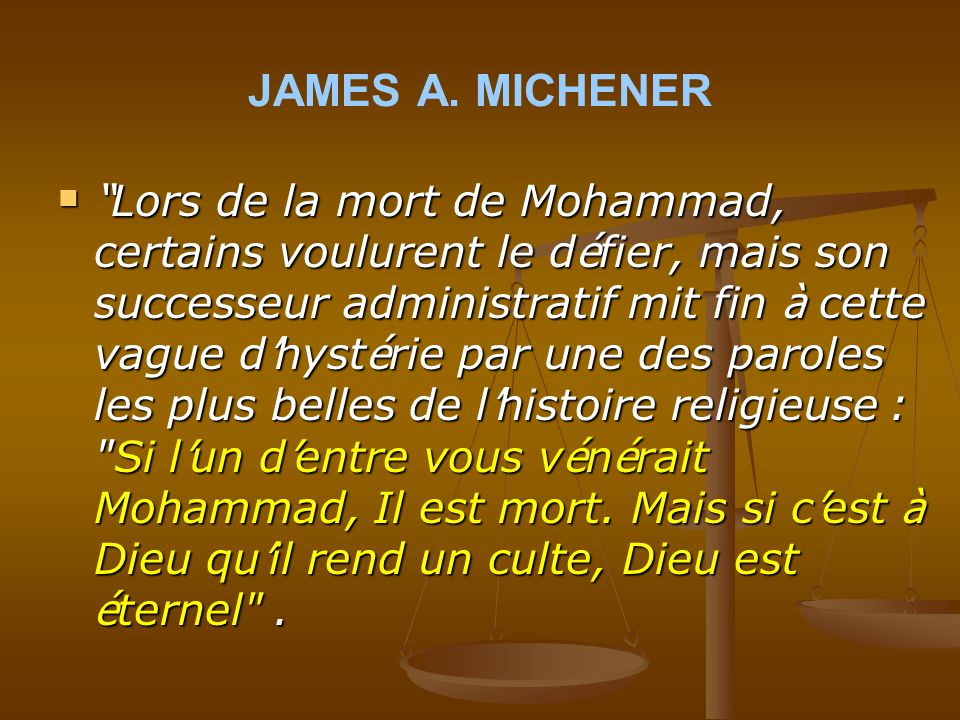 JAMES A. MICHENER