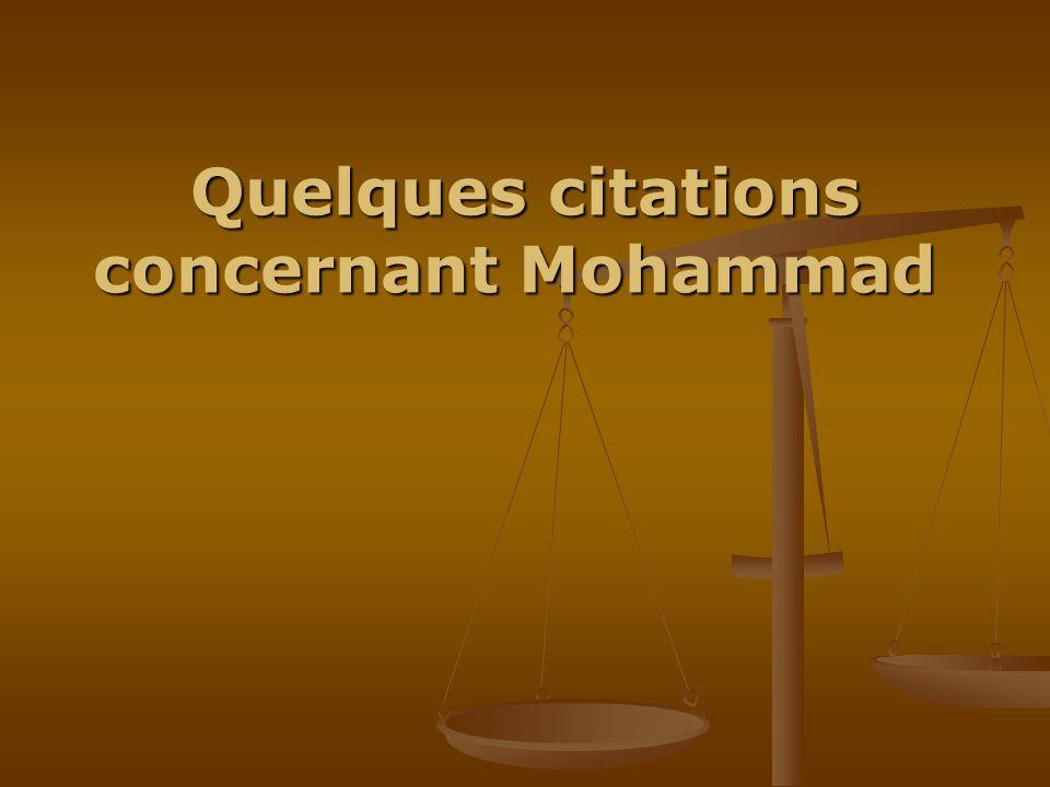 Quelques citations concernant Mohammad