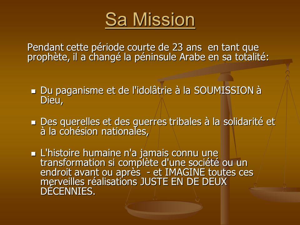 Sa Mission Du paganisme et de l idolâtrie à la SOUMISSION à Dieu,