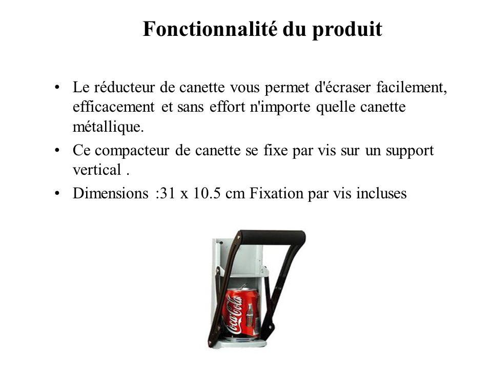 Fonctionnalité du produit