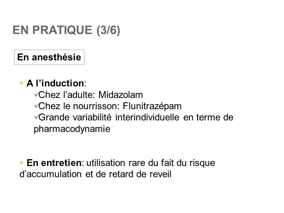 EN PRATIQUE (3/6) En anesthésie A l'induction: