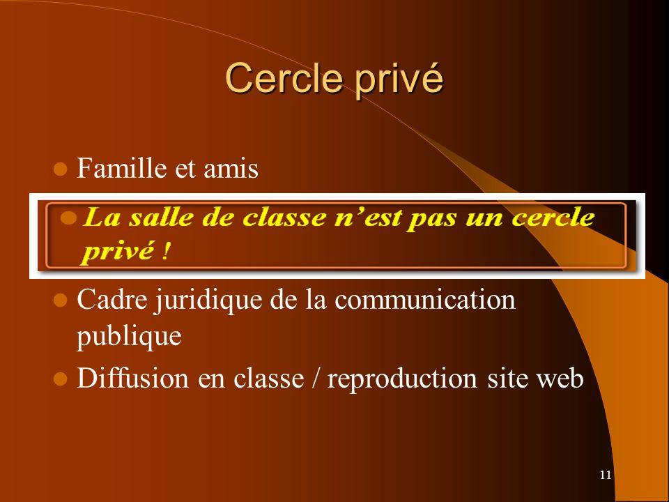Cercle privé La salle de classe n'est pas un cercle privé !