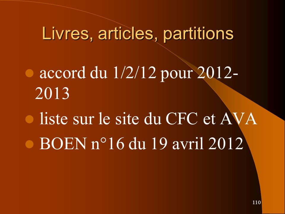 Livres, articles, partitions
