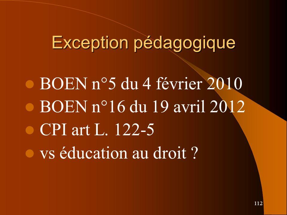 Exception pédagogique